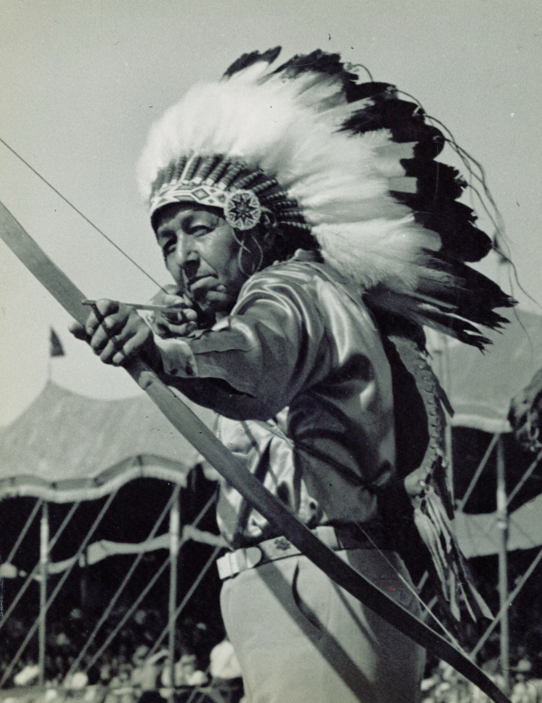 Indian Shooting Bow And Arrow He would also slice an arrow